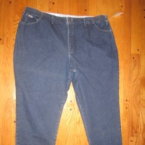 NWT LEE SIDE ELASTIC WAIST JEAN PLUS 28W M RELAXED